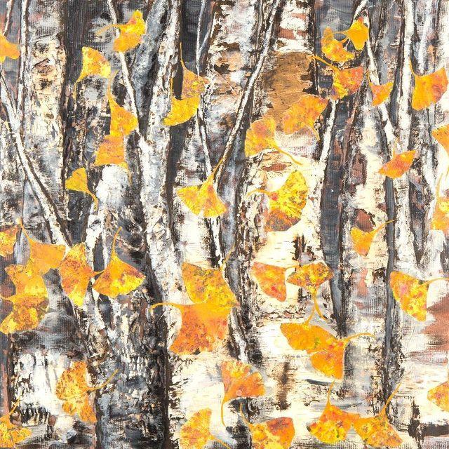 Aspen or Birch Tree Painting