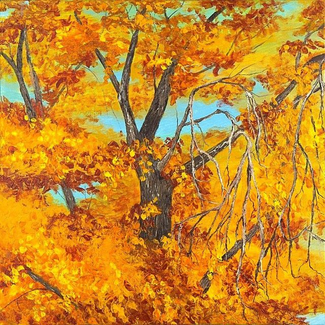 Autumn Oak Tree Painting