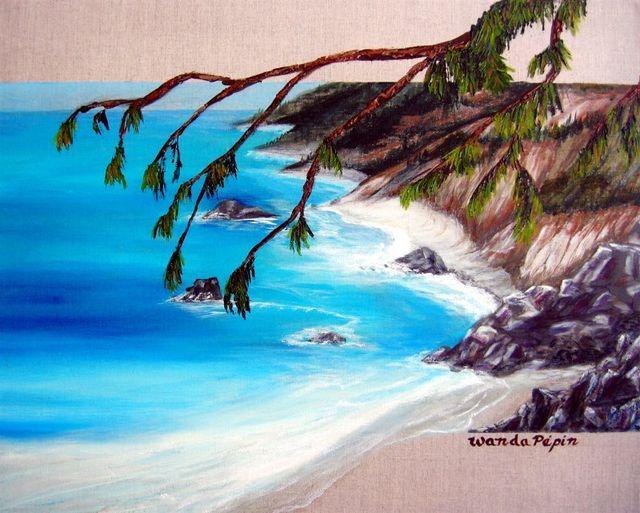 Ocean Painting by Wanda Pepin