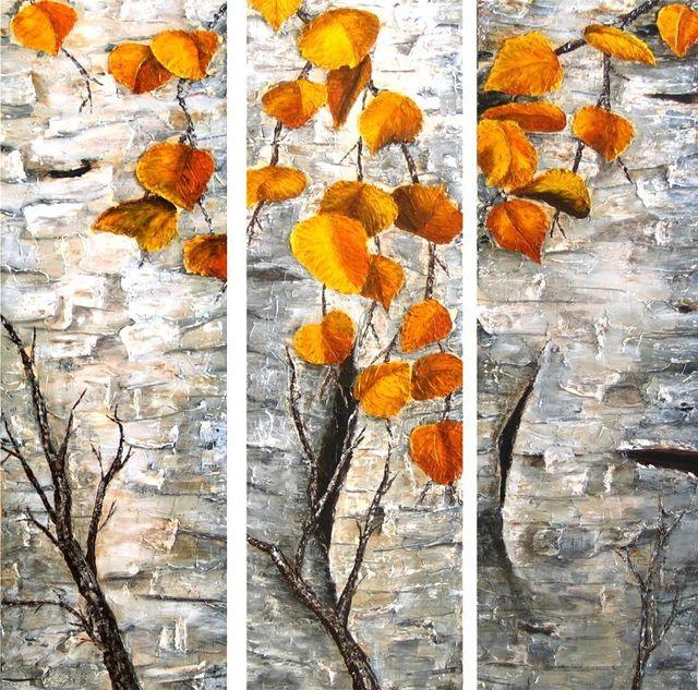 Aspen Bark Painting