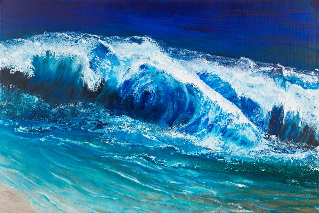 Ocean Waves Painting