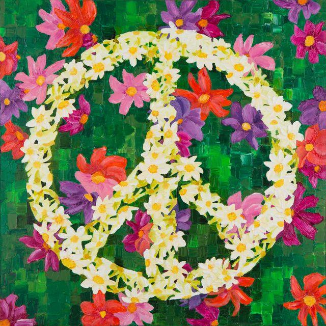 Pop Peace Art Painting