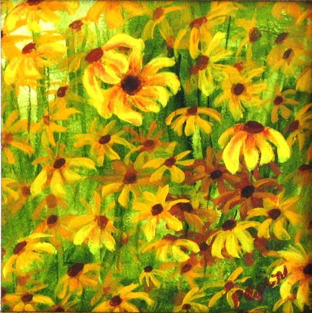 Coneflowers Painting