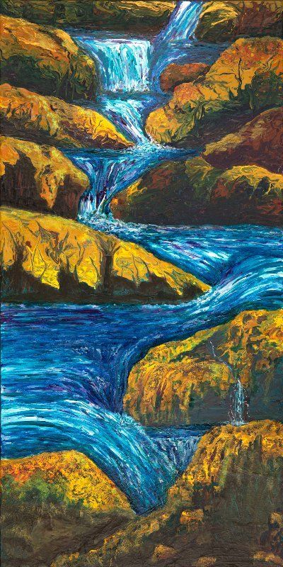 River Waterfall Painting