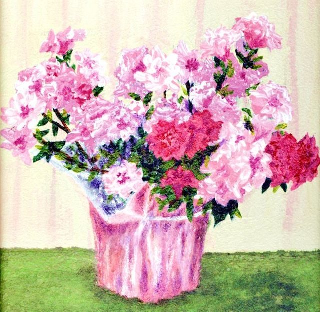 Mother's Day Azaleas, Flowers in a Pot Painting