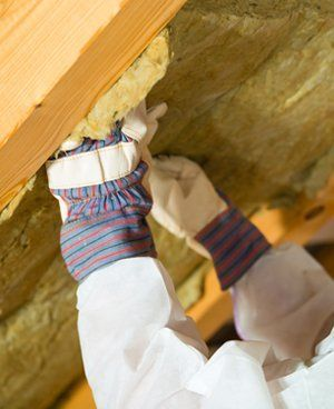 Insulation being fitted