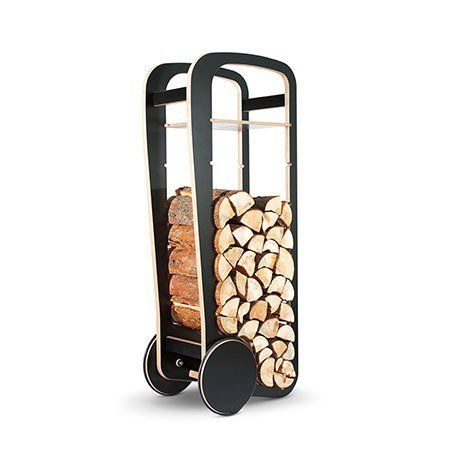Log Trolley in black
