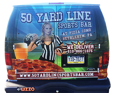 50 Yard Line Delivery Van