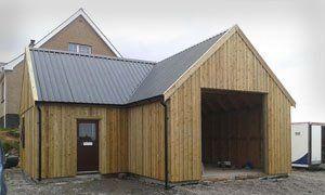 A timber framed garage