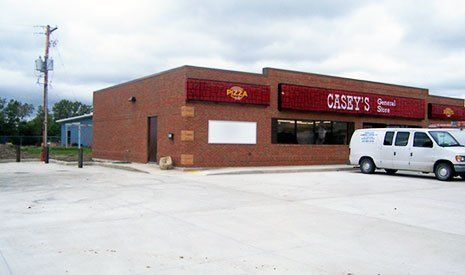 Concrete Parking Lot - Casey's General Store
