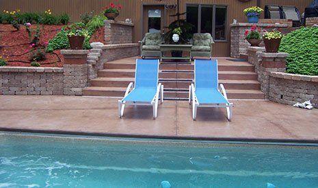 Concrete Pool Deck - Decorative concrete contractor
