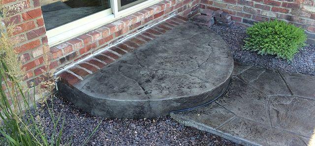 Stamped Concrete Steps - Peoria, IL