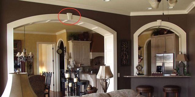 Decorative interior archways casing profiles keystone for Decorative archway mouldings