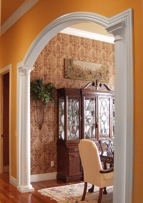 Horizontal Extensions Interior Columns And Arch Moulding
