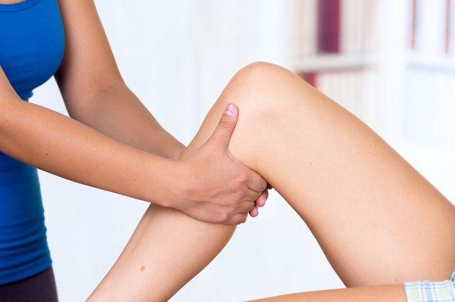 massaggio ad una gamba