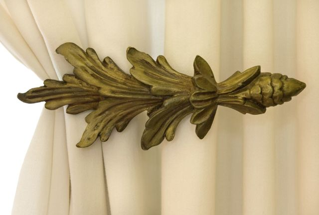 Nice curtain material with tieback
