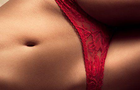 Women in sheer lingerie