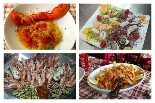 menù degustazione di solo pesce,  35 euro, con antipasto, primo, secondo e sorbetto al menù alla carta