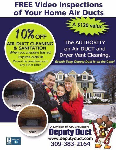 Deputy Duct air duct cleaning for home coupon and dryer vent cleaning Germantown Hills, IL