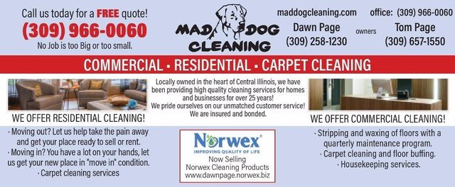 Mad Dog Cleaning residential-commercial-carpet cleaning house cleaners