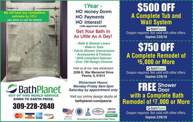 Bath Planet bath remodel tub installation discount coupons
