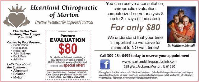 Heartland Chiropractic of Morton posture coupon