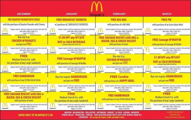McDonalds breakfast lunch dinner coupons Morton, Metamora, Chillicothe, Washington, IL