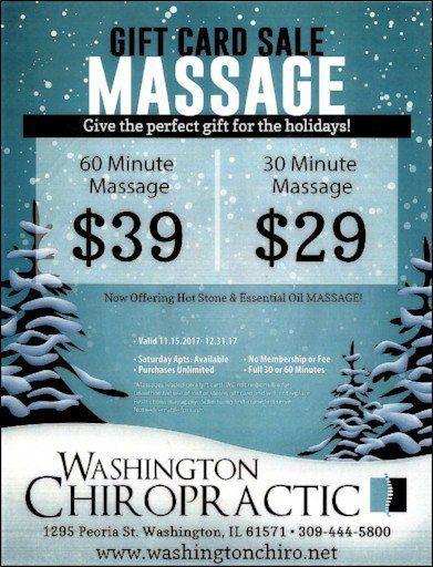 Washington Chiropractic massage gift card sale Washington, IL