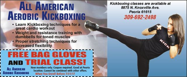 all american kickboxing cardio workout free coupon