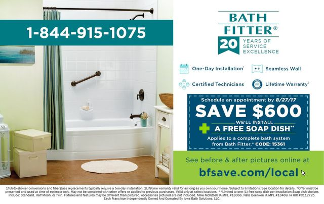 Bath Fitter save $600 coupon offer discount