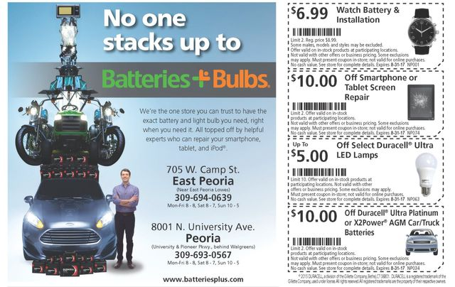 batteries plus bulbs watch car battery smartphone repair led discount coupons