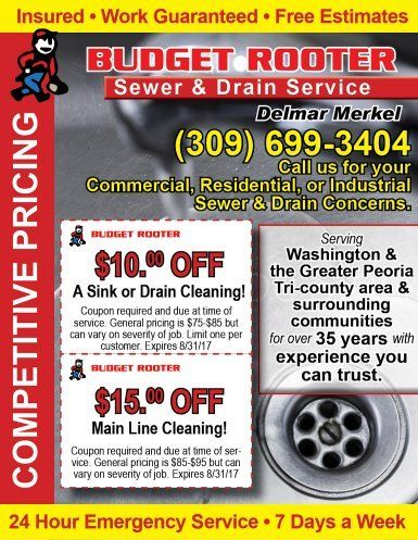 Budget Rooter Sewer amd Drain Service coupons