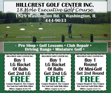 Hillcrest Golf Center Inc. 18 hole executive golf center coupons