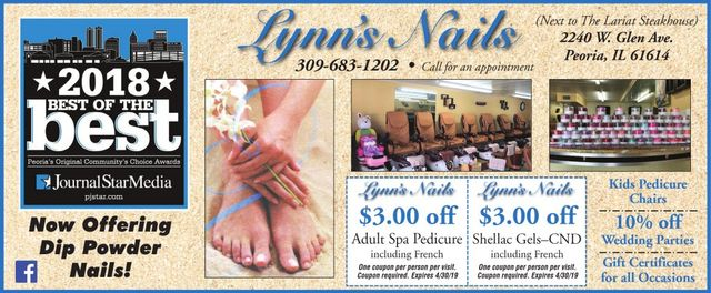 Lynn's Nails manicure pedicure spa wedding parties coupons