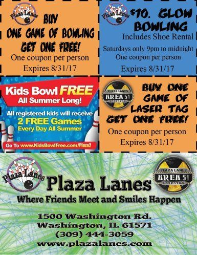 Plaza Lanes Bowling Area 51 Laser Tag Glow Bowling coupons
