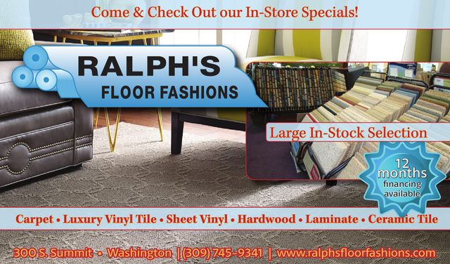 ralphs floor fashions 12 months financing available washington il
