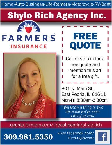 Shylo Rich Agency Farmers Insurance Free quote and gift