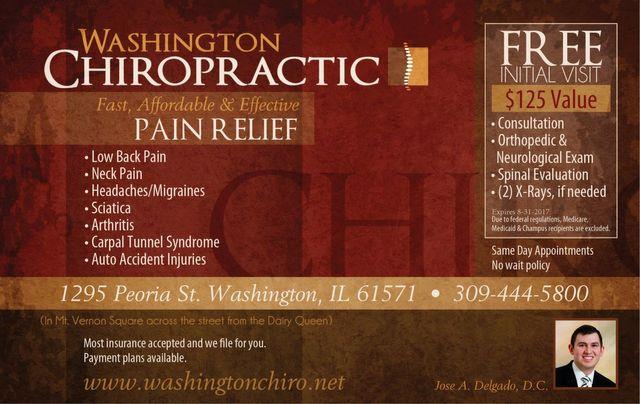 Washington Chiropractic chiropractor massage coupons