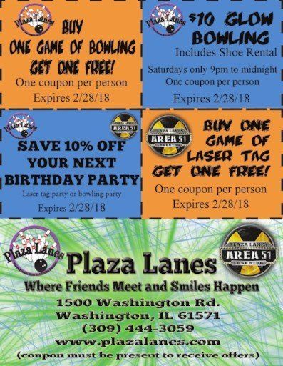 Plaza Lanes Bowling Area 51 Laser Tag Glow Bowling Open Bowling coupons