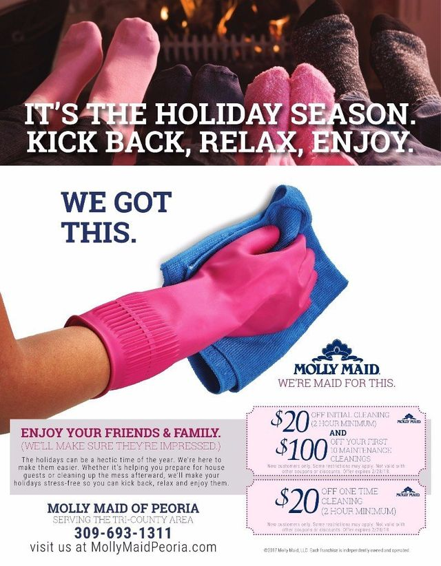 Molly Maid of Peoria house cleaners coupons Serving the Tri-County area