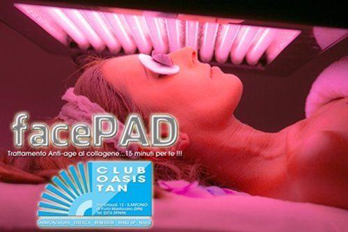 Il trattamento Facepad al centro estetico Club Oasis Tan a Porto Mantovano