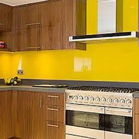 A renovated kitchen by Birkdale Glass