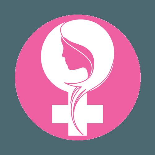 simbolo femminile con profilo di donna