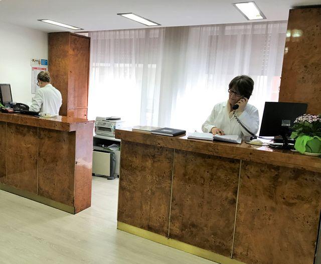 Reception centro di radiologia