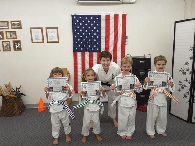 child learning Isshin-Ryu Karate in Kailua, HI