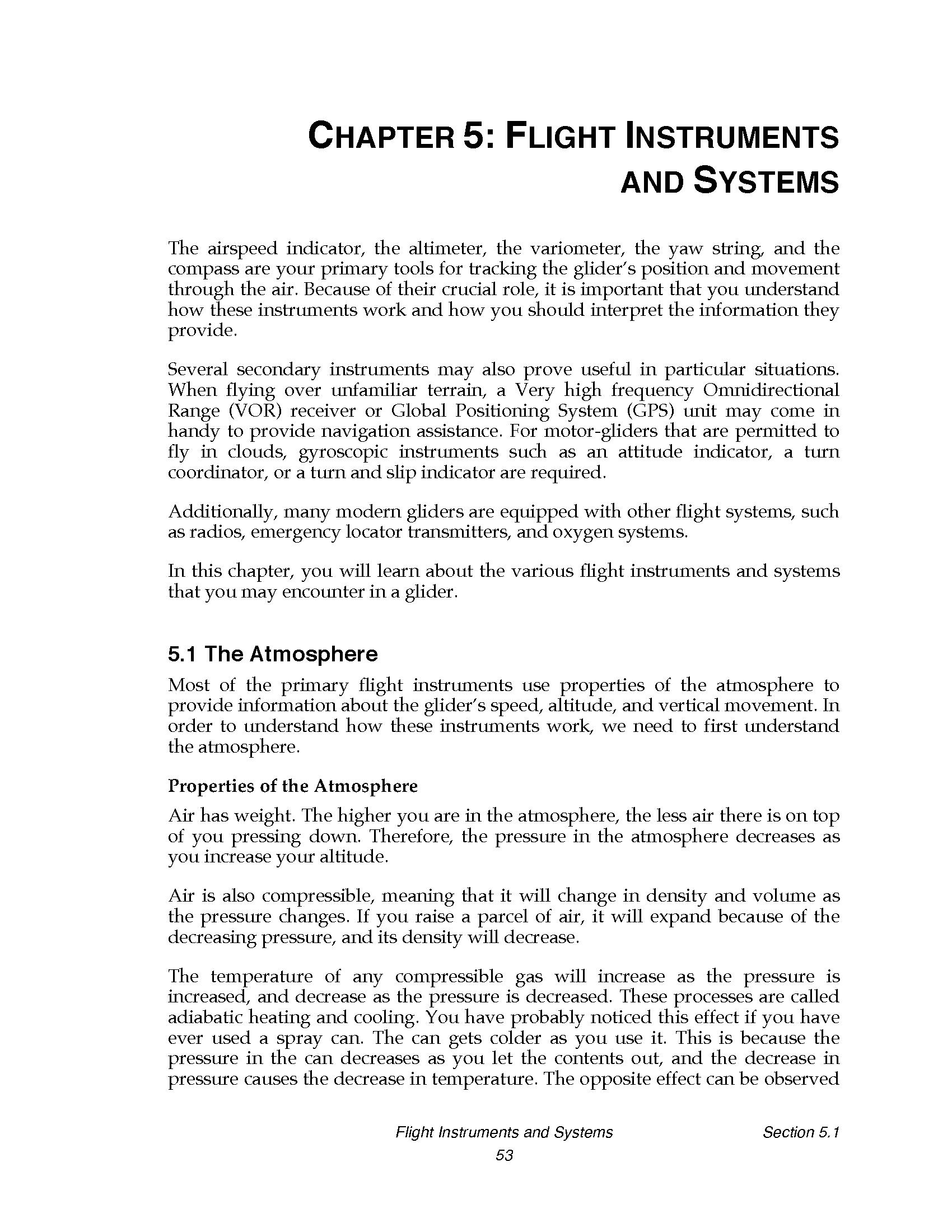 Glider Pilot's Handbook of Aeronautical Knowledge