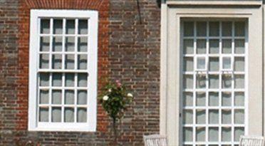 Two white mullioned windows
