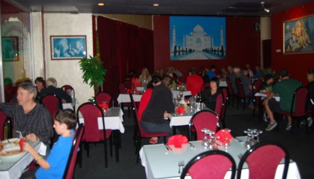 Inside our Indian takeaway restaurant on the North Shore