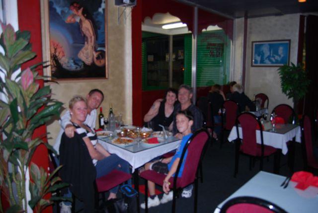 Family enjoying their dinner