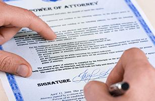 Gaining power of attorney